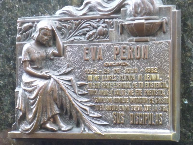 Eva Peron Cementerio del Recoleta